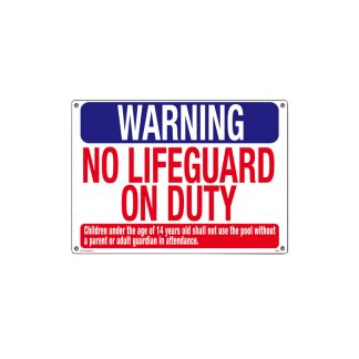 "40325 | 18"" x 24"" Warning: No Lifeguard on Duty"
