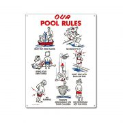 "41335 | 18"" x 24"" Our Pool Rules"