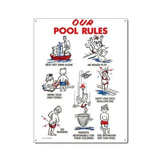 41335 | 18'' x 24'' Our Pool Rules