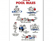 "41337 | 18"" x 24"" Our Pool Rules"
