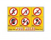 "41357 | 18"" x 12"" Obey Our Pool Rules"