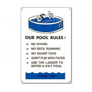 "41370 | 12"" x 18"" Our Pool Rules"