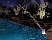54514 | Color Cascade Waterfall Fountain - Lifestyle