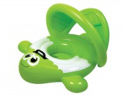 81551 | Green Guppy Baby Seat Pool Rider with Retractable Canopy