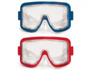 90253 | Explorer Tri-View Sport Swim Mask - Red & Blue