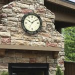 52606 | 15'' Faux Stone Clock - Lifestyle