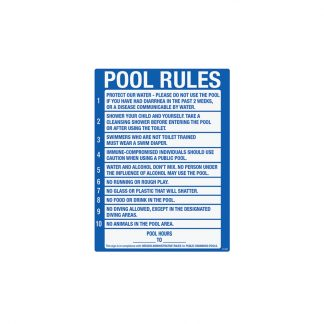 41385 | Oregon Pool Rules - Sign