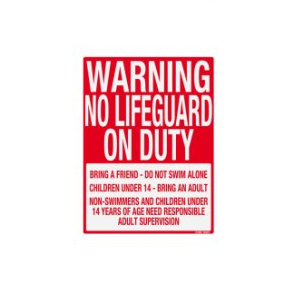 41388 | Warning No Lifeguard - Sign