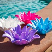 54513 | Set of 4 Floating Lotus Light - Lifestyle