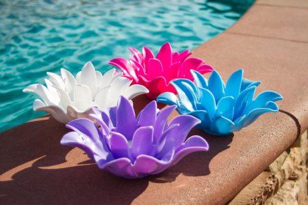 54513 | Set of 4 Floating Lotus Lights - Lifestyle 2