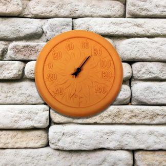 52549 | 12'' Terra Cotta Thermometer - Lifestyle
