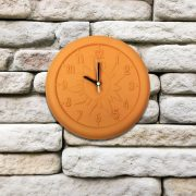 52550 | 12'' Terra Cotta Clock - Lifestyle