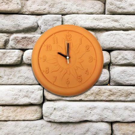 52550 | 12'' Terra Cotta Clock - Lifestyle