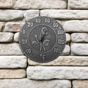 52553 | 12'' Terra Cotta Antique Black Thermometer - Lifestyle