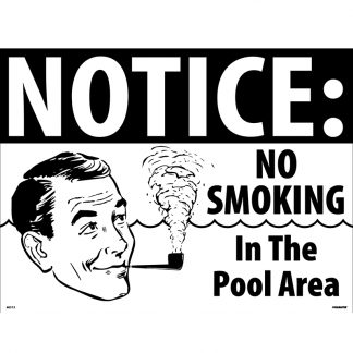 40313 | Notice: No Smoking Pool Sign