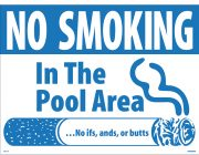40314 | No Smoking Pool Sign