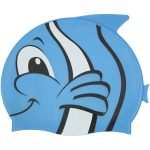 99032 | Fish Silicone Swim Cap - Blue