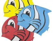 99032 | Fish Silicone Swim Cap - 3 Assorted Colors