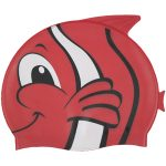 99032 | Fish Silicone Swim Cap - Red