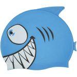 99033   Smiling Piranha Silicone Swim Cap - Blue