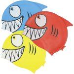 99033   Smiling Piranha Silicone Swim Cap - Group