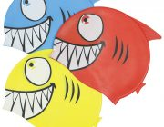 99033 | Smiling Piranha Silicone Swim Cap - 3 Assorted Colors