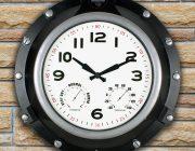 52539 | 18'' Black Porthole Clock - Lifestyle