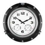 52539 | 18'' Black Porthole Clock