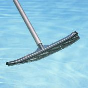 "18"" Aluminum-Back Algae Brush - Stainless Steel Bristles"