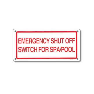 40310 | 12'' x 6'' Emergency Shut Off Sign
