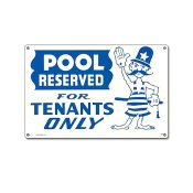 40319 | 12'' x 18'' Pool Reserved Sign