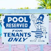 Pool Reserved for Tenants Only Sign