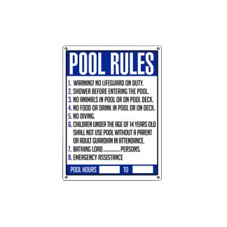 40326 | 18'' x 24'' Pool Rules Sign