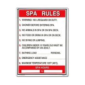 40327   18'' x 24'' Spa Rules