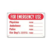 40339   12'' x 18'' For Emergency Use Sign