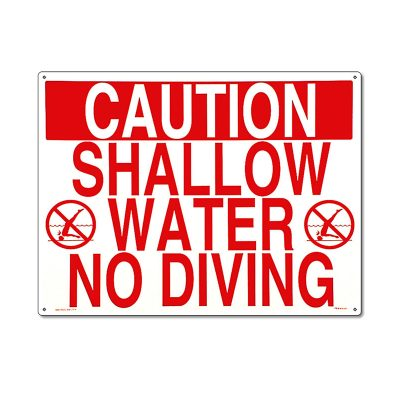 40341 | 24'' x 18'' Caution: Shallow Water. No Diving