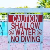 Caution: Shallow Water. No Diving