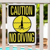 Caution: No Diving Sign