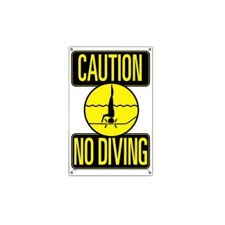 40344 | 12'' x 18'' Caution: No Diving Sign