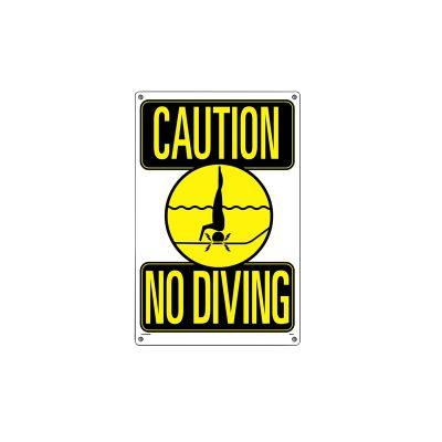 40344   12'' x 18'' Caution: No Diving Sign