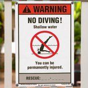 NSPF® No Diving Sign