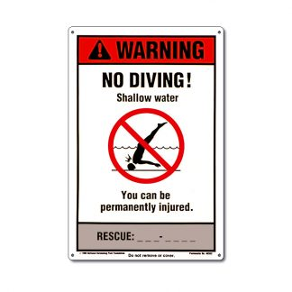 40352 | NSPF 12'' x 18'' No Diving Sign