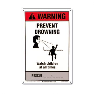 "40354 | NSPF® 12"" x 18"" Prevent Drowning Sign"