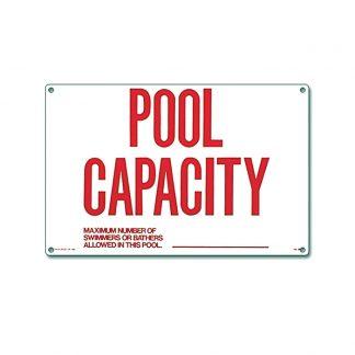40361 | 12'' x 18'' Pool Capacity Sign