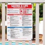 40366 | 18'' x 24'' Saving a Life Sign - Lifestyle