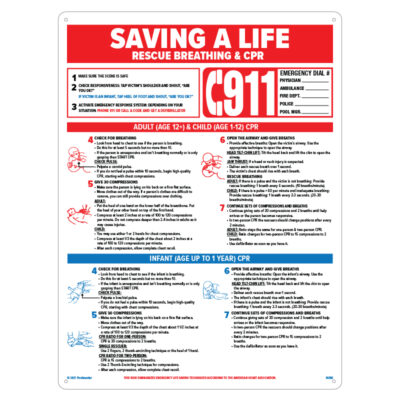 40366 | 18'' x 24'' Saving a Life Sign - Product
