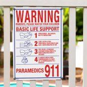 Warning - Basic Life Support Sign