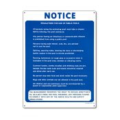 40368 | 18'' x 24'' Notice Commercial Sign
