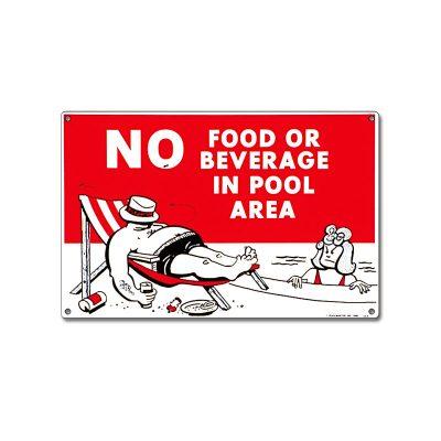 40369 | 12'' x 18'' No Food or Beverage Sign