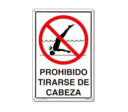 40385 | 12'' x 18'' Prohibido Tirarse de Cabeza